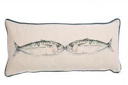 Kissing fish linen cushion from Nicole Phillips www.nicolephillips.co.uk