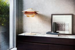 Glass and aluminium Overlay LED lamp by B.Lux