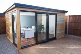 Rapod offers modern design. Its room are ideal for the home based business. They're eco friendly being made from wood and glass. www.rapod.co.uk