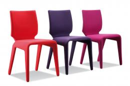 Chabada felt covered dining chairs, £1,160, Roche Bobois, www.roche-bobois.com