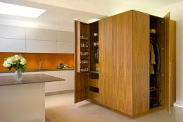 If you have the space and the budget, Roundhouse makes this splendid and extremely capacious larder/vestibule  unit. Freestanding FSC-cert wood pieces from £4,000. www.roundhousedesign.com