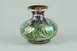 Loetz silver inlay glass vase, Solo Antiques dealer