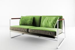 The Barley sofa, £2,500, has a recyclable metal frame and compostable seat and back cushions