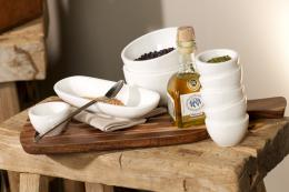 Villeroy & Boch's Artesano Original collection uses ceramic, acacia wood, cork and slate. www.villeroy-boch.co.uk