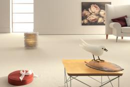 Germany's Vorwerk has high eco standards. 100% polyamide Hermelin carpet, £75m2
