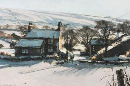 John McCombs' Winter Morning Sunlight Delph 33x50cms, £950