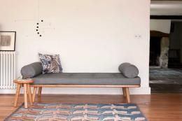 Daybed upholstered in Bute wool from Another Country