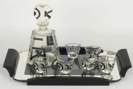 For art deco fans, this 1930s Karl Palda cabaret drinks set would be a delight. est £200-£300