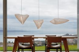 New Ballet collection from Arturo Alvarez. Lights are LED with shades made from Simetech, a mouldable fabric-like material