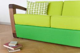 Kustom sofa. Bark aren't afraid of vibrant colour