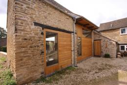 The exterior of the barn project Luxton has completed