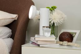 The M lamp is ideal for use as a bedside reading light