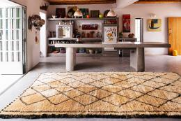 Vintage Moroccan wool Ben Ouarain rug from Beldi Rugs, which has started offering new Ben Ouarain rugs. Vintage rugs from around £1,600. www.beldirugs.com
