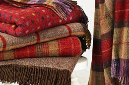 Gorgeous Shetland quality wool throws from Bronte by Moon, woven in Yorks. From £75. www.brontebydesign.co.uk