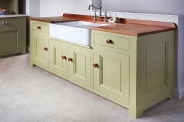 Churchwood Design offers moveable furniture made from local UK timber and from recycled wood, uses Little Greene paints and heats its workshop with waste offcuts. Sink unit in painted pine from £3,500. www.churchwood.co.uk