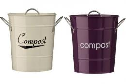 stainless steel compost pails come in lots of colours. Eddingtons make them, £10.99 at www.primrose.co.uk
