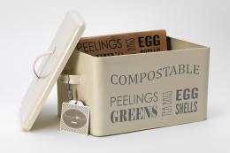 Cream compost box by Burgon & Ball from All Tidied Up