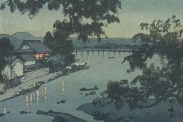Chikugo River by Hiroshi Yoshida (1876-1950), original woodblock print, 1927, £2,650