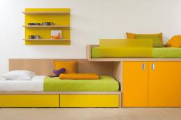 Modular bed and storage system from Italian brand Dear Kids