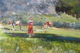Landscape by Rachid Hanbali. 100x73cms. POA