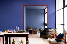 You could really transform a room by going from light to dark. Paint from Dulux