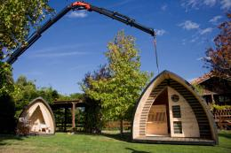 Prefabricated holiday 'pods' by Egoin