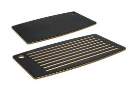 Epicurean wood fibre grooved bread boards catch crumbs and help keep work surfaces tidy. £54.95 from www.steamer.co.uk