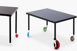 Established & Sons' funky and moveable Spin table, £660. Made in Italy from wood, laminate and steel fixings, H40xL90xD60cms. www.establishedandsons.com