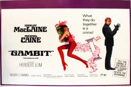 Poster for the film Gambit starring Michael Caine and Shirley MacLaine, 1966, £250, 76x101.5cm