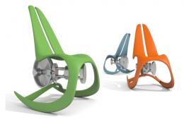 Eco Rocking Chair By Novague (Prague). Rock on it and you can generate enough electricity to charge a phone