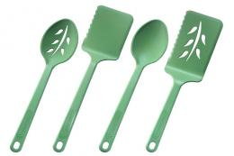 US brand Green Street makes utensils from recycled post-consumer plastic water bottles. www.greenstreethome.com