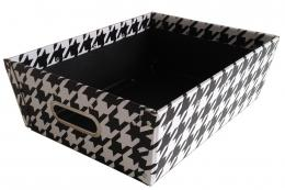 Recycled fibreboard monochrome storage box from The Holding Company. www.theholdingcompany.co.uk