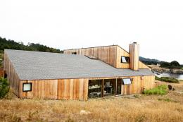 The house is clad with redwood timber and it sits unobtrusively in the Sea Ranch