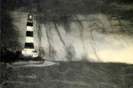 To the lighthouse on a stormy day