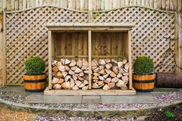 If you have a wood burning stove, you can store your logs in an aesthetically pleasing way too with timber enclosures