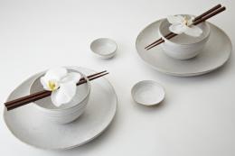 Rice bowls by London potter Maria de Haan. www.mariadehaan.com