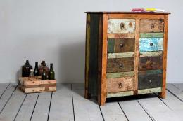 Mary Rose 8-drawer chest from Little Tree Furniture is made from reclaimed boat timbers. £475