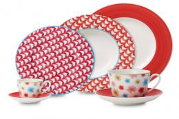 Lina collection from Villeroy+Boch in red, blue and beige colourways. Prices from £7.95. www.villeroy-boch.co.uk