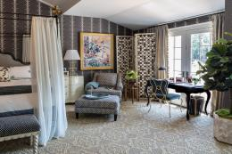 US brand Merida uses only renewable, sustainable fibres that biodegrade. Nasturtium weave carpet is woven from sisal. Pic by Marco Ricca for Kemble Interiors. www.meridameridian.com