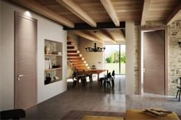 Wood veneers used by Pivato Porte on its Inversa doors come from sustainably managed forests in Italy. www.pivatoporte.com