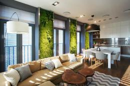 Svoya Studio in Ukraine incorporated living walls into this apartment