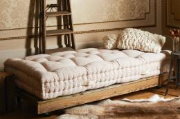 Spring-free organic Nolton mattress from Abaca Organic is made to a traditional Italian technique from horsehair and wool, From £2,903
