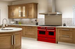A modern range.. the Delphi 100cm by Britainnia in gloss red