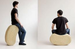 Move It, rocking stools made from esparto grass, from £280.