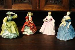 Set of four Royal Doulton figurines. The company has been making ceramic ornaments since the 1890s