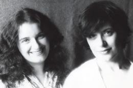 Sarah (left) and Susan in the early years of their collaboration