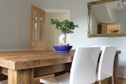 Reclaimed wood works in modern and more traditional interiors