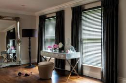 Timberlux UK-made wooden blinds work well with curtains. www.timberlux.co.uk