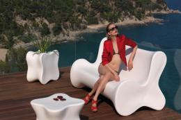 Vondom polyethylene furniture is lightweight and made in Spain. Doux collection by Karim Rashid. Prices from £250. www.vondom.com