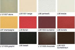 Leather can be dyed in myriad colours. Here are a few from Wittmann. www.wittmann.at